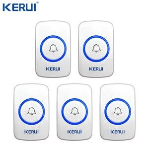 Image 2 - 10 Kerui 무선 패닉 버튼 무선 초인종 비상 버튼 홈 경보 시스템 보안 긴급 호출 도어 벨