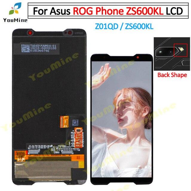ل ASUS ROG الهاتف ZS600KL شاشة الكريستال السائل شاشة و محول رقمي يعمل باللمس ل Asus ZS600KL LCD الجمعية إصلاح