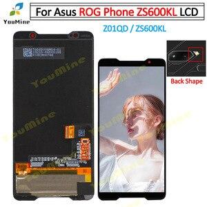Image 1 - Para asus rog telefone zs600kl display lcd tela e painel de toque digitador para asus zs600kl montagem lcd reparos