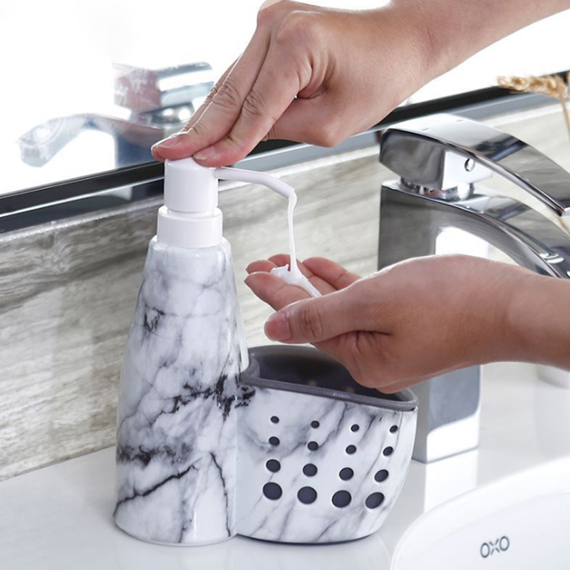 New Multifunction Kitchen Bathroom Liquid Detergent Storage Box Rack Cleaning Sponge Drainboard Soap Holder Accessories