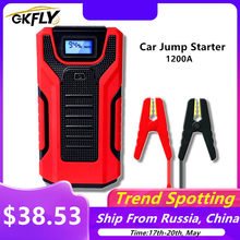 GKFLY 1200A High Capacity 16000mAh 12V Jump Starter Portable Starting Device Power Bank Car Charger For Car Battery Booster