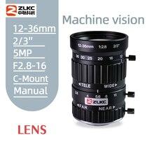 zoom CCTV/FA Lens12-36mm 5Megapixel HD Lens F2.8 2/3