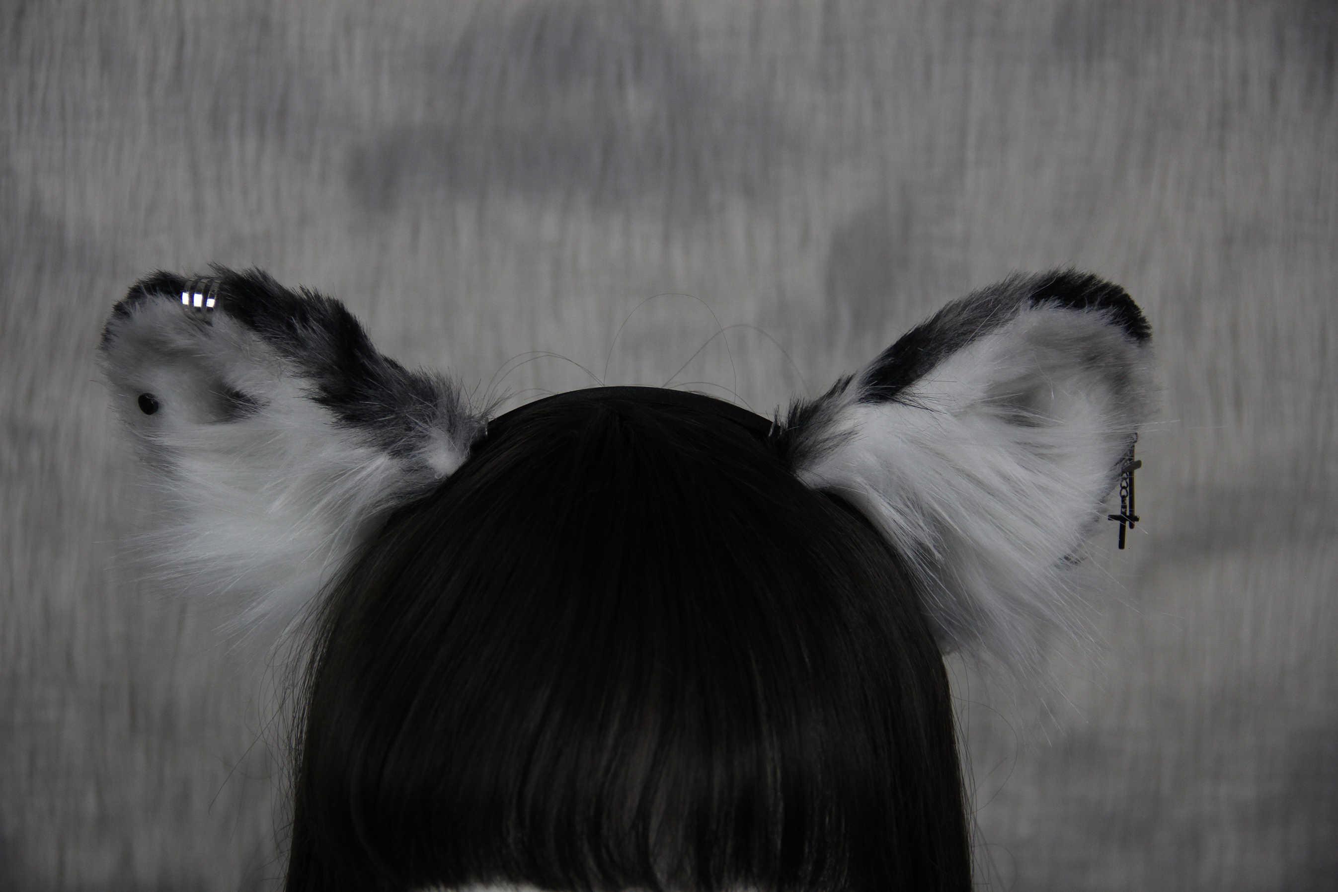 Tibetan Fox And Firewood Simulation Hand Work With Animal Ears Lolita Kc Headwear Snow Leopard With Animal Ears Hair Hoop