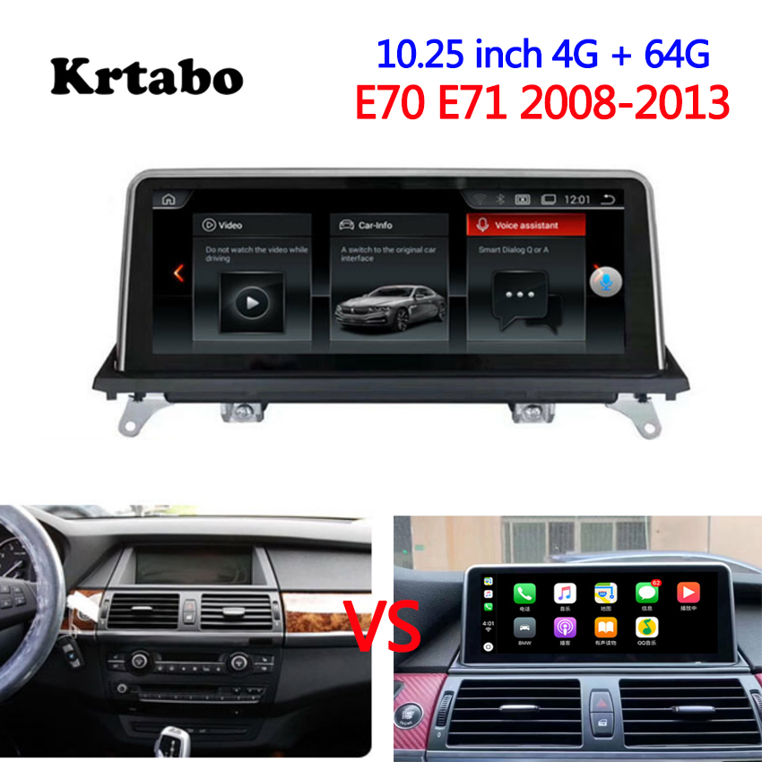 Car radio Android multimedia player For <font><b>BMW</b></font> <font><b>E70</b></font> E71 2008-2013 <font><b>10.25</b></font> inch touch screen GPS Carplay image