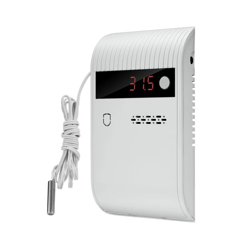 Work independently Wired & Wireless 433MHZ Temperature detector 75db alarm sound LED display For Home PSTN GSM WIFI Alarm System