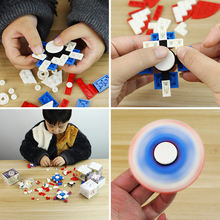 Hand Fidget Spinner Toys  For Children Building Blocks Kids Educational Toy  Action Compatible With Blocks fun children s building blocks toy compatible with legoes large aircraft carrier assembly model children s building blocks toys