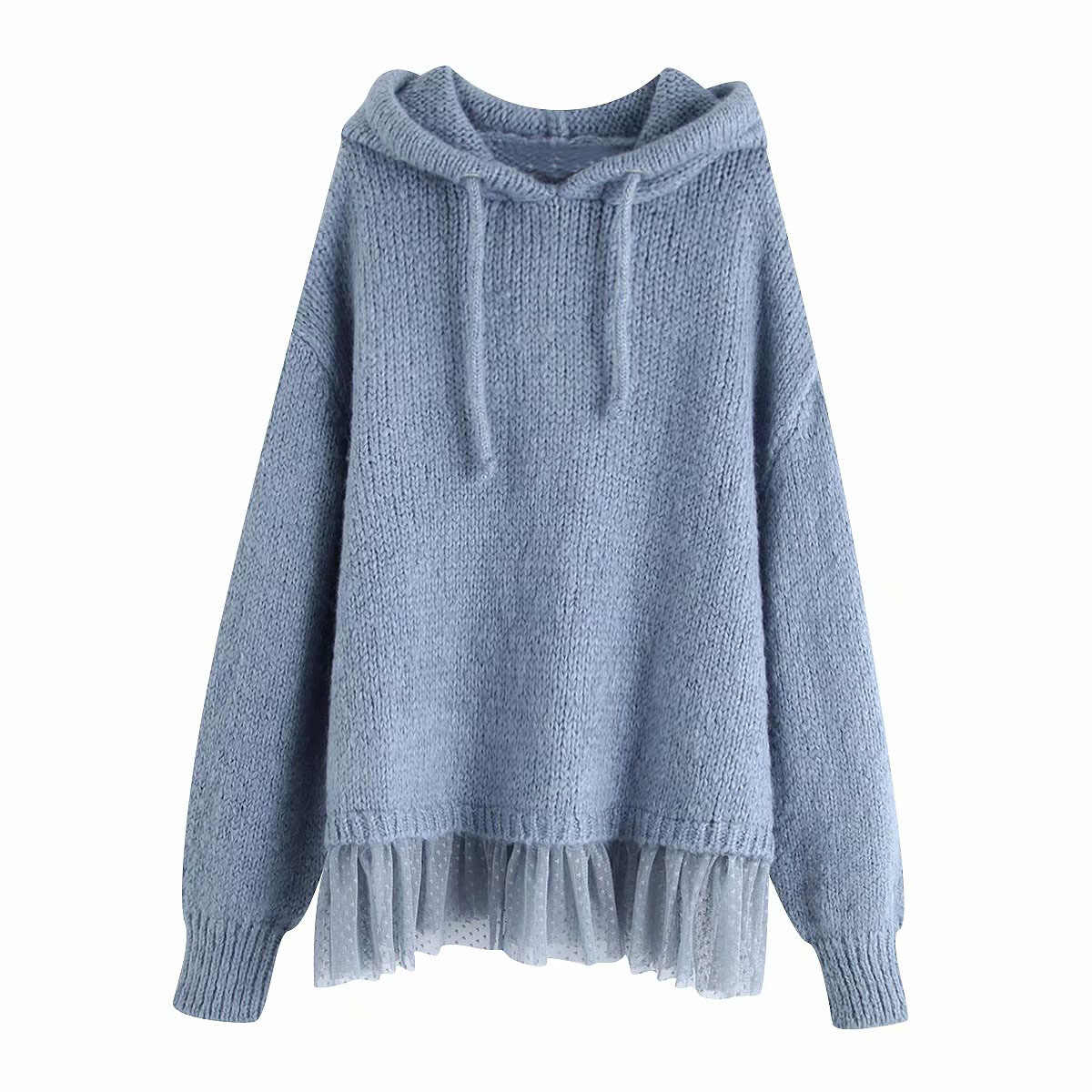 Winter oversize hooded Sweatshirts Women Knitted Pullovers casual Long Sleeve hoodies korean Chic Tops