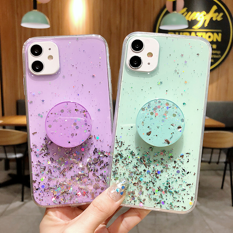 for <font><b>iPhone</b></font> 11 Pro Max SE 2020 Case Bling <font><b>Glitter</b></font> Silicone Phone Case for <font><b>iPhone</b></font> 6 6s 7 <font><b>8</b></font> Plus X XR XS Max Covers image
