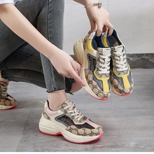 Casual Sneakers Old-Shoes Retro Breathable Family Women Original Tide Thick-Soled of