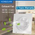 14 Вт бесшумный вентилятор вытяжной вытяжки для окна Настенная Ванная Комната, Туалет, кухня, монтируемая 220В 110В защита от насекомых 4
