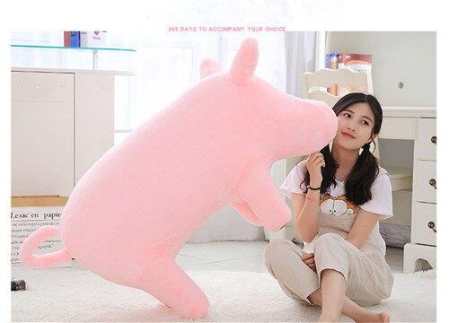 lifelike pelúcia recheado porco brinquedo elefante porco