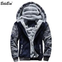 BOLUBAO hiver marque hommes sweats à capuche nouveaux hommes Plus velours veste à capuche manteau Camouflage cardigan à capuche vêtements masculins