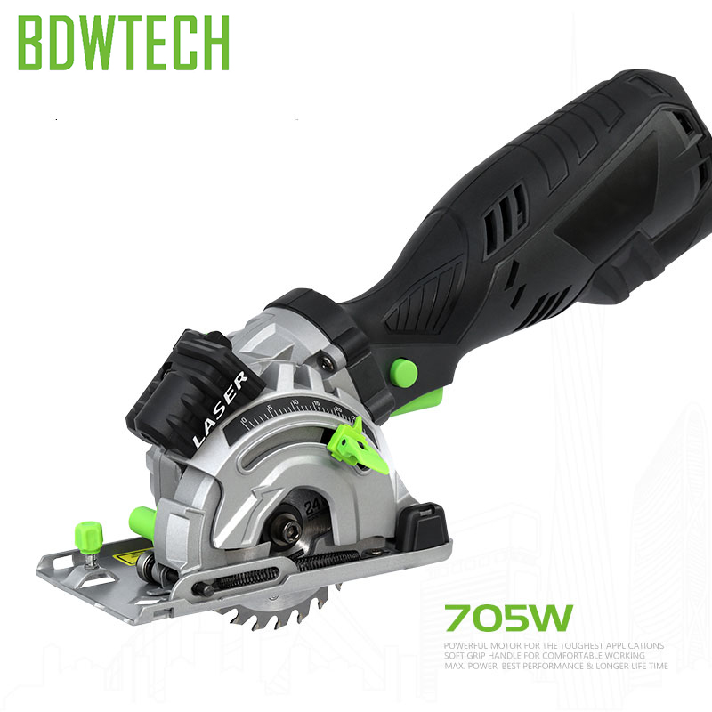 "Bodew Tech BTC01 5.8Amp Mini Circular Compact Saw with 89m'm"" 24T TCT Blade, Vacuum Adaptor Free Return"