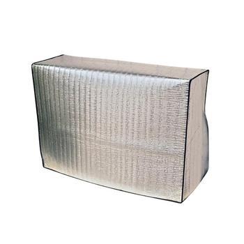1pc folia aluminiowa osłona przeciwpyłowa klimatyzator pokrywa parasol przeciwsłoneczny pokrowiec ochronny na zewnątrz klimatyzacja pokrywa ochronna tanie i dobre opinie CN (pochodzenie) Włosy syntetyczne Nowoczesne Air Conditioning Protection cover Dust Covers