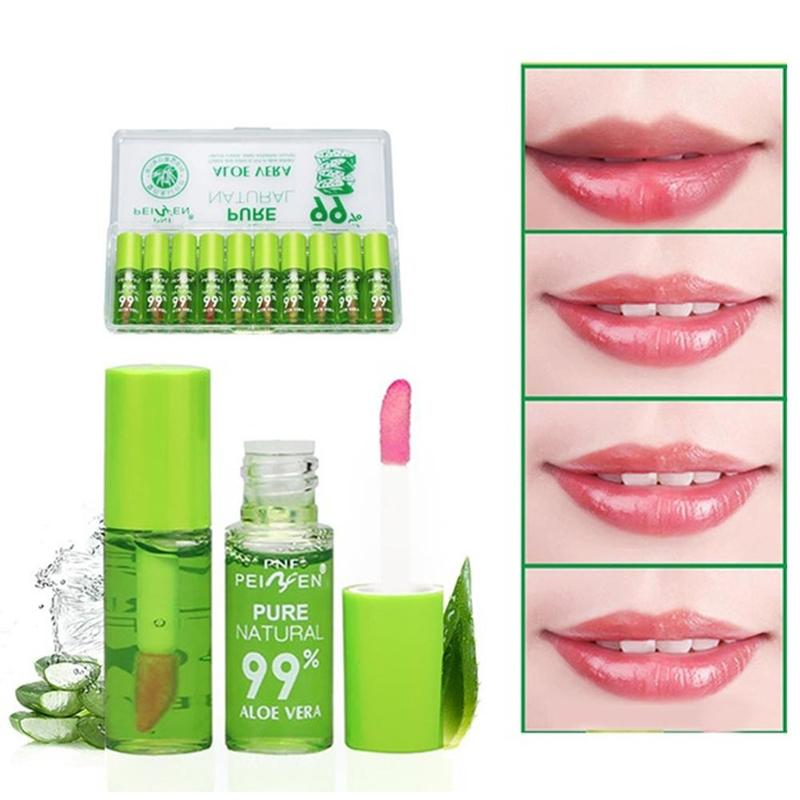 3.5g Women Aloe Color Changing Lipstick Lip Tint Long Lasting Waterproof Moisturizing Nourish Lip Gloss Color Changing Lip Care image