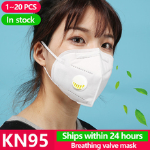 20PCS N95 Masks Antivirus Disposable Pm2.5 Face Mouth Mask Flu Facia Dust Filter Respirator Corona Cover Kf94 N95 Ffp1 Ffp2 Ffp3