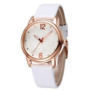 Image 5 - 2020 New Luxury BrandFashion LeisureSimpleStyleWomen WatchLeather Watchband Quartz WatchWomensGift Relogio Feminino reloj mujer