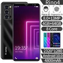Versão global rino4 4gb ram 64gb rom smartphone telefone móvel 8mp + 13mp 4g lte duplo sim cartão 5.8
