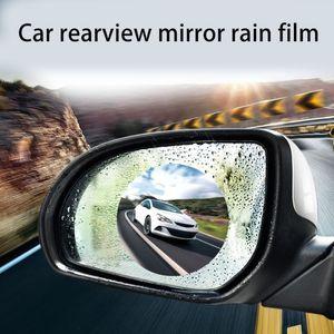Image 2 - 2Pcs/set Rainproof Car Accessories Car Mirror Window Clear Film Membrane Anti Fog Anti glare Waterproof Sticker Driving Safety