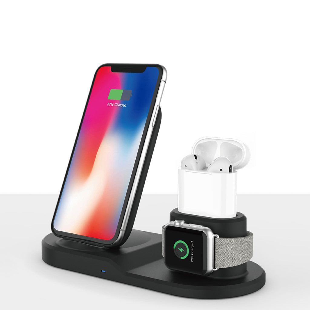 Charging Stand Dock Station Holder For Iphone 11 For Iwatch5 For Airpods For Samsung Galaxy S10 For LG G2 PC+ABS Case