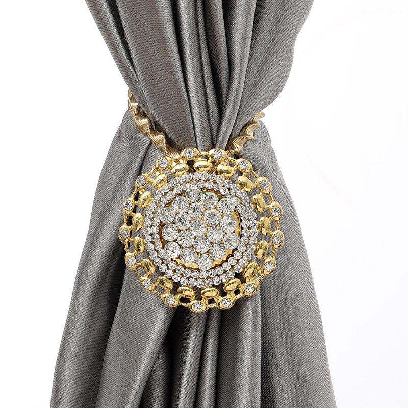 Gancho magnético para cortina, soportes de cortinas, para colgar varios diamantes, ganchos para cortinas con flores grandes