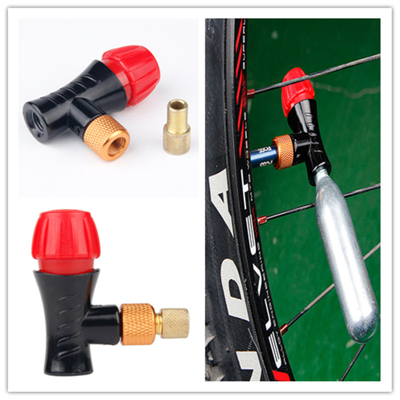 Bicycle Air Pump Valve AV/FV Portable CO2 Air Bottle Valve Head Schrader&presta Valve Universal Mtb Air Inflator Accessories