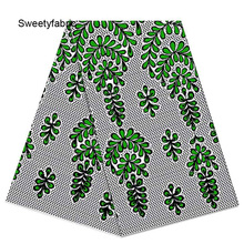 Tissus African-Fabric Ankara Print Wax for Party-Dress Textile Leaves Tecidos High-Quality