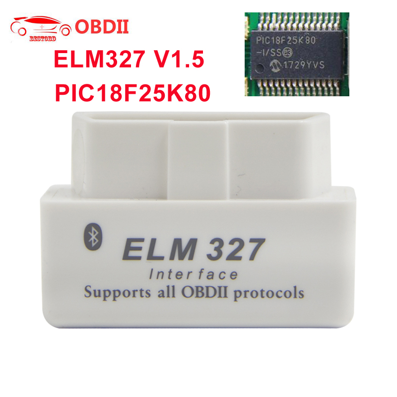 For Android OBD2 ELM327 v1 5 PIC18F25K80 chip Bluetooth 2 0 Car Diagnostic Tool Mini elm Innrech Market.com