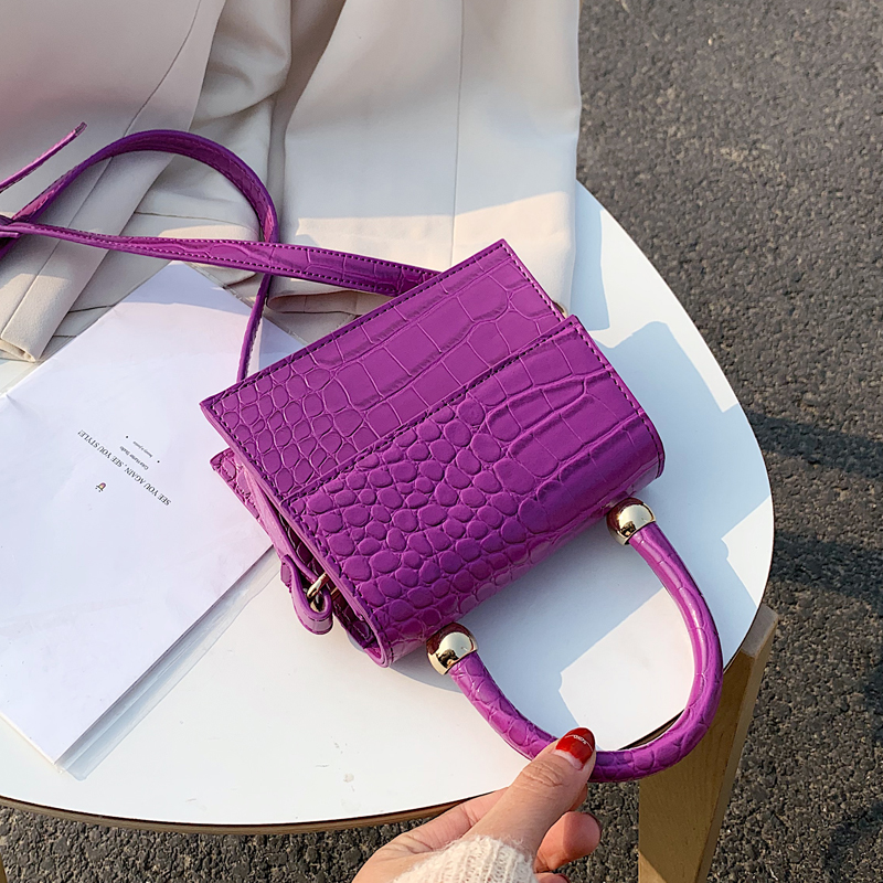 Crocodile Patent Leather Crossbody Bags For Women 2020 Small Handbag Small Bag PU Leather Hand Bag Ladies Designer Evening Bags