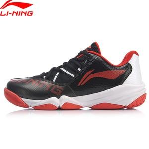 Image 1 - Li ning の男性 ACCELERATIONV3 プロのバドミントンシューズ通気性ライニングウェアラブルスポーツ靴スニーカー AYTP033 OND19