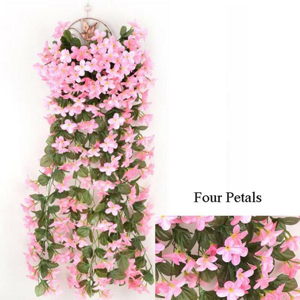 Artifical Hanging Fake Flowers Wedding Home Decoration Ivy Vine Garland PlantNew