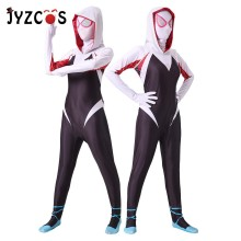 JYZCOS Spiderman Halloween Costumes for Women Gwen Stacy Spider-Man Cosplay Costume Maxine Stacy Zentai Bodysuit Suit Jumpsuits stacy wolff promed 90