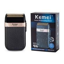 Kemei электрическая оригинальная бритва для лица 3d подвеска