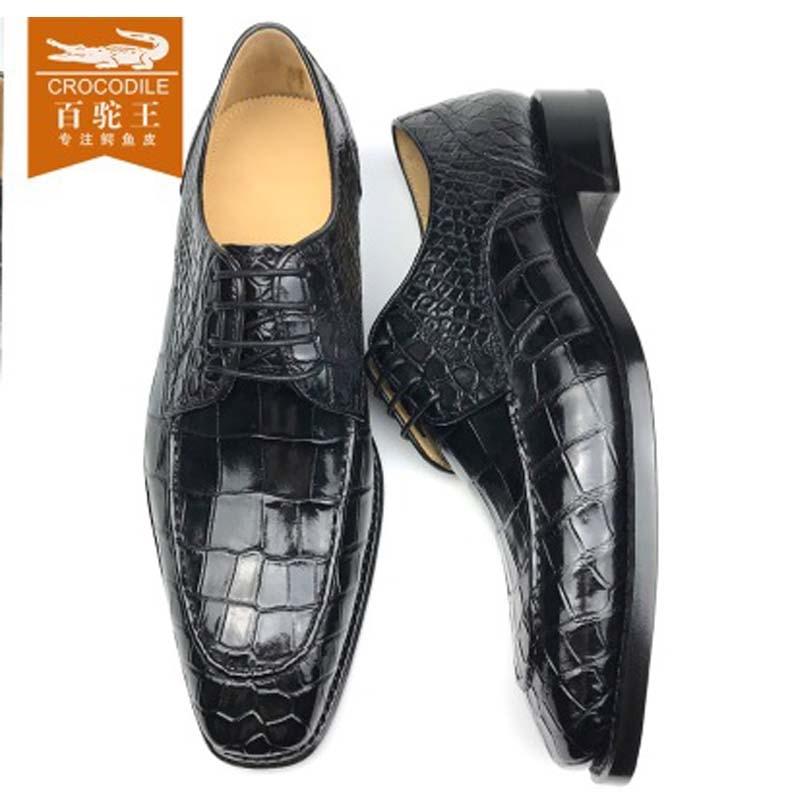 chue  new  crocodile leather manual  Brush color shoes  men  shoes fashion business  Leisure men shoes