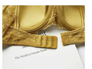 Image 5 - HONVIEY  New Yellow Lace Lingerie Push Up Adjusted Straps Bra and Panty Sets Triangle cup Sponge free Sexy  Womens Intimates