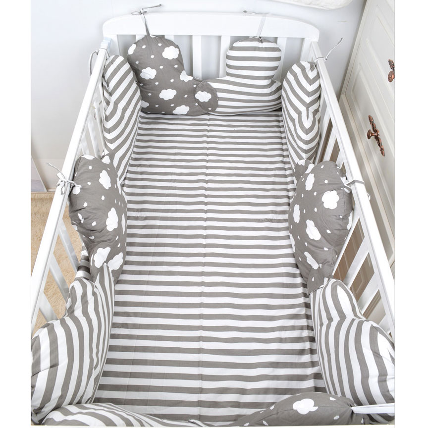 4 Pcs Baby Bed Bumper In The Crib Cot Bumper Baby Bed Protector Crib Bumper Newborns Toddler Bed Bedding Set Room Decoration