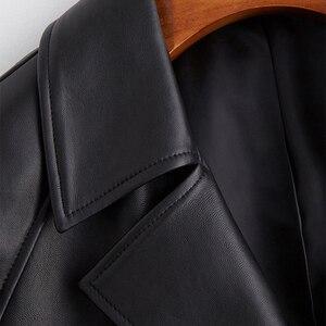 Lautaro schwarz übergroßen leder graben mantel für frauen raglan hülse lose 2020 frühling frauen kleidung Lange weiche faux leder mantel
