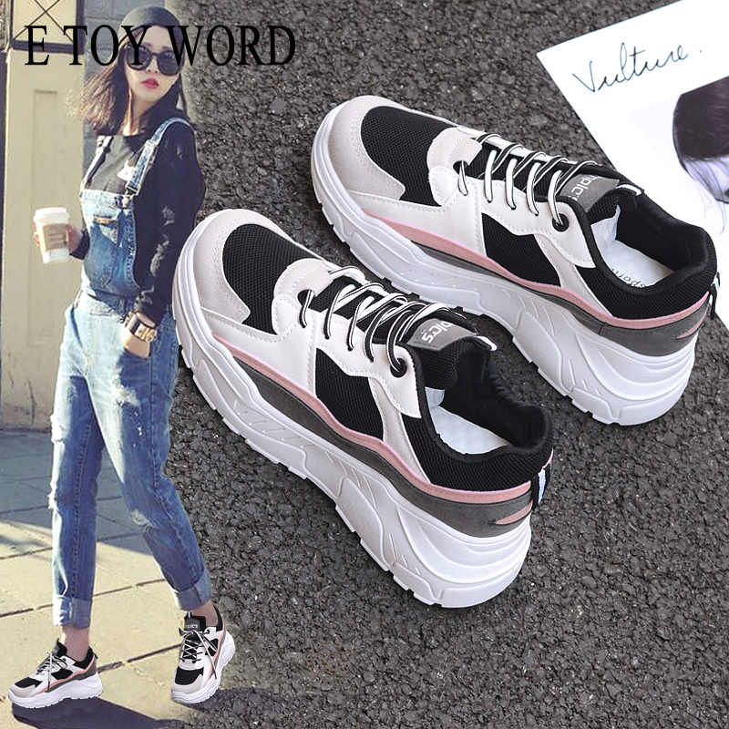 E TOY WORD 2020 zapatos de plataforma de moda para mujer Zapatillas tenis Femenino gruesas para mujer zapatos casuales zapatos transpirables de Mujer