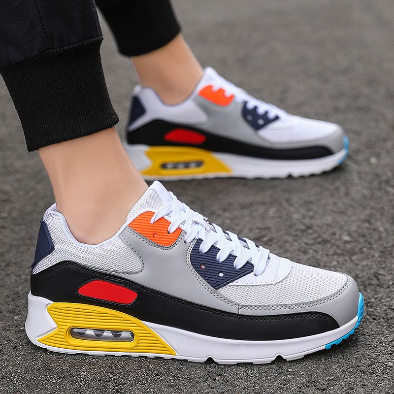 Mens Sneakers Fashion Casual Running Shoes Lover Gym Shoes Light Breathe Comfort Outdoor Air Cushion Couple Jogging Shoes 36 47