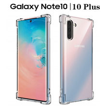 Shockproof Silicone Case untuk Samsung Note 10 Ditambah Catatan 9 8 S10 S9 S8 Plus S7edge A70 A60 A50 A40 a30 M30 TPU Penutup Transparan(China)