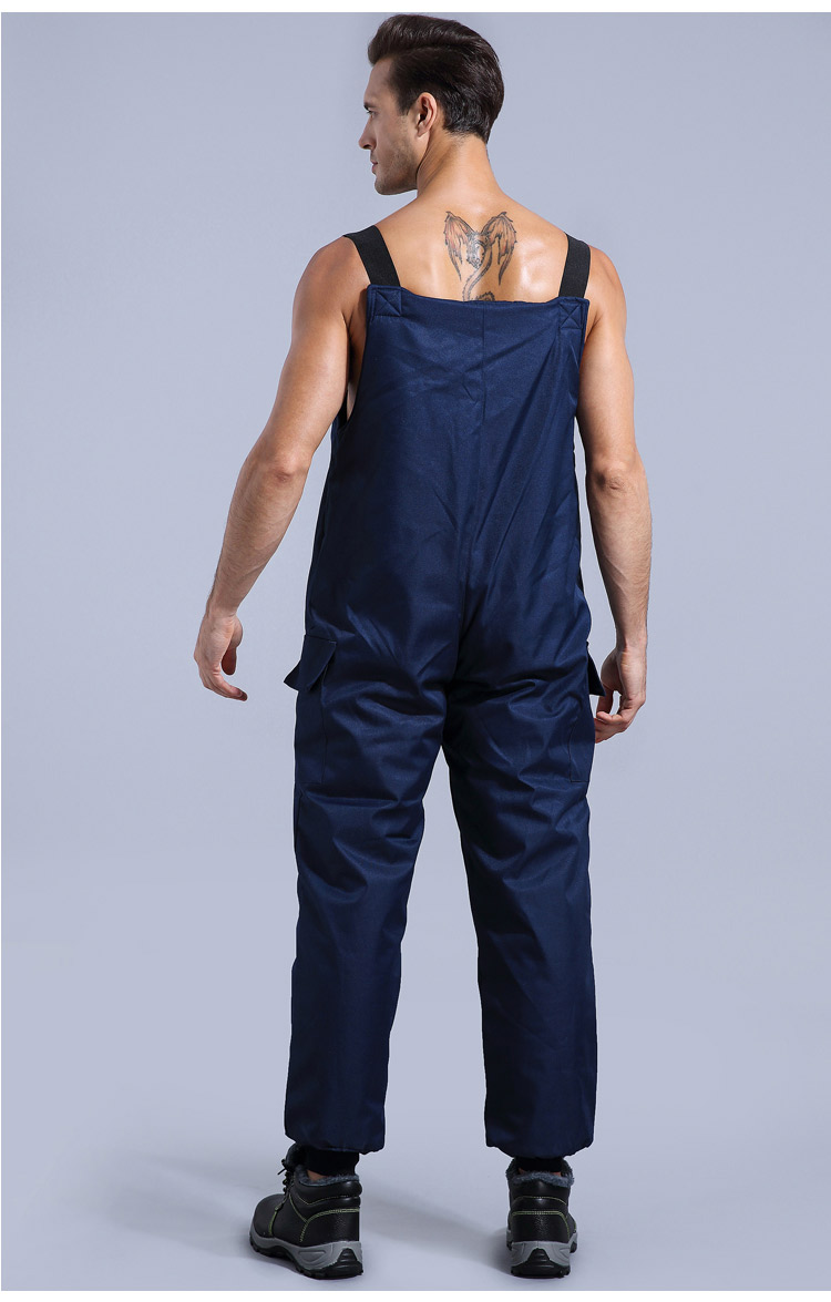 Winter Working Clothing Men Cold Storage Overalls Thick Warm Clothing Bib Cotton Suit Set Split Protective Safety Clothing (9)