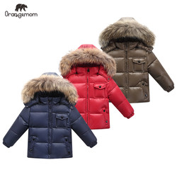 2019 New Orangemom official store Kids winter clothes duck down Boys Girls jackets infant boy coats children's jackets clothing