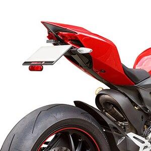 Image 5 - Apto para Ducati 1199 1299 Panigale 899 959 Panigale soporte para matrícula soporte trasero guardabarros limpio trasero eliminador de kit de aluminio