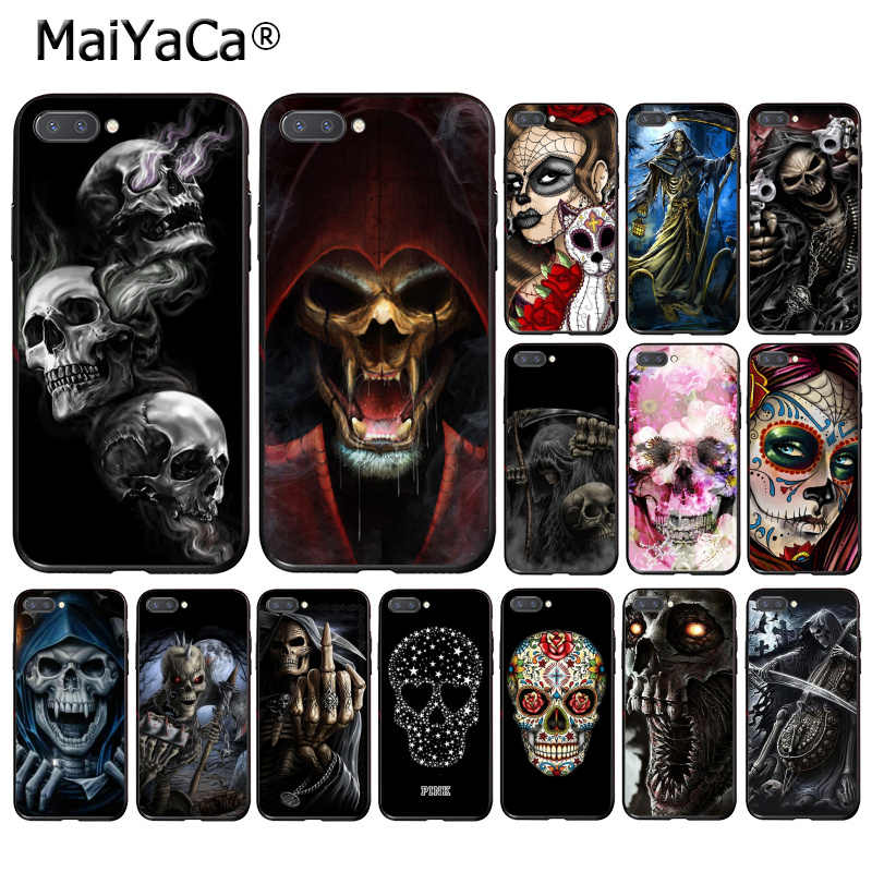 MaiYaCa Grim Reaper Skull Skeleton  Capa Phone Case for Huawei Honor 8X 9 10 20 Lite 7A 8A 5A 7C 10i 20i View20
