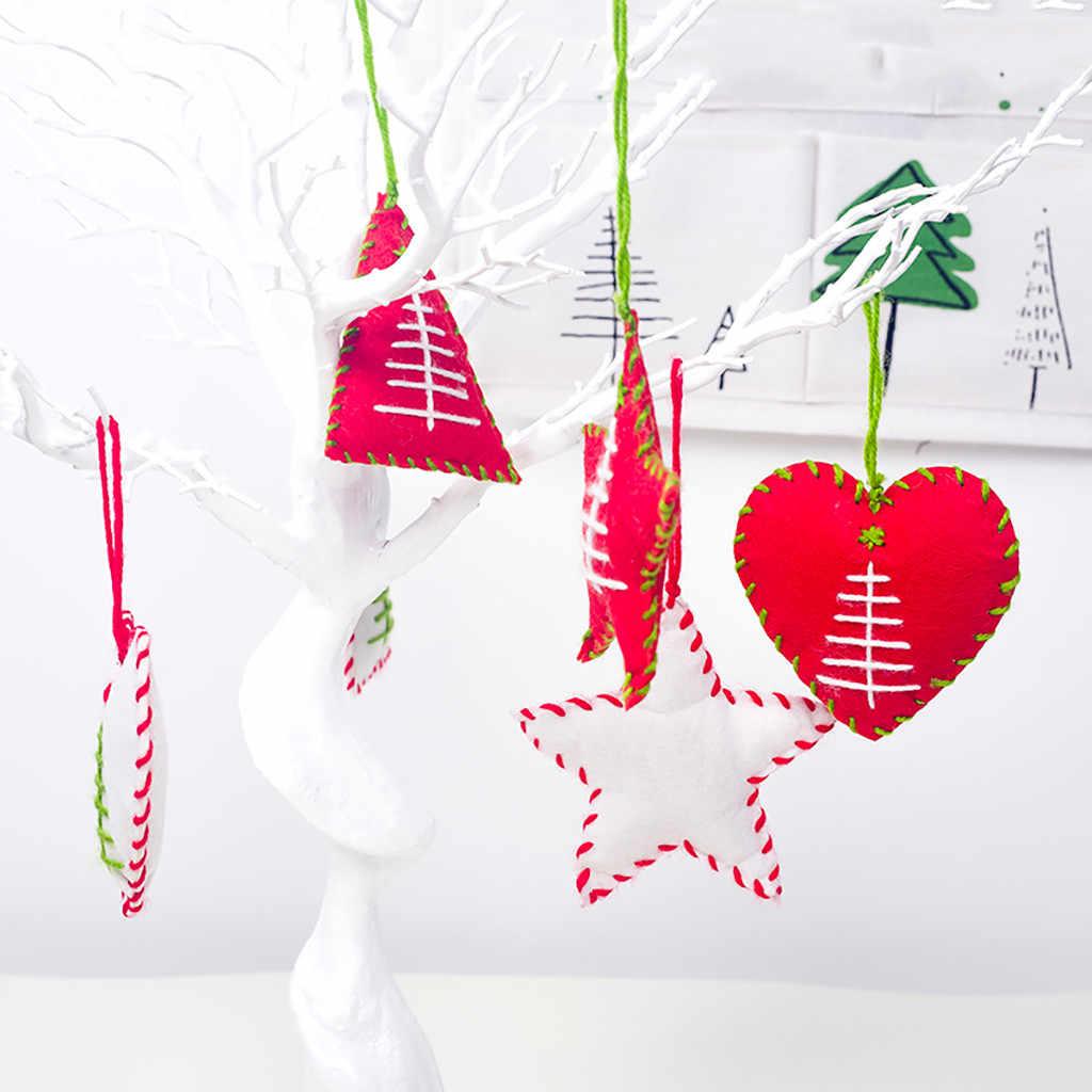 2020 nuevo año Navidad familia colgante hecho a mano regalo estrella corazón árbol hogar jardín sala de estar creativa decoración colgante