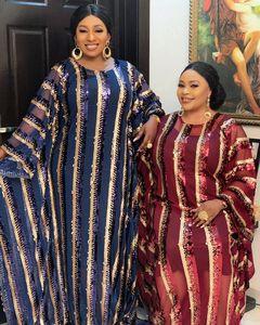 Image 2 - 2020 סופר גודל חדש אפריקאי נשים של פאייטים דאשיקי אופנה רופף רקמת ארוך שמלת אפריקאי שמלת לנשים אפריקאי בגדים