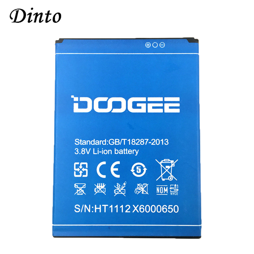 Dinto NEW 3000mAh 3.8V DOOGEE X6 Replacement Lithium Li-ion Cell Phone Battery For For DOOGEE X6 Pro X6 Mobile Phone