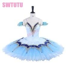 women bluebird prblue professional tutu dress classical Professional Ballet Tutu Coppelia Swan Lake Costume girlsBT9255