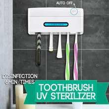 5 в 1 УФ-светильник, Ультрафиолетовый Стерилизатор зубных щеток, держатель для зубной щетки, автоматический дозатор для зубной пасты, домашний набор для ванной