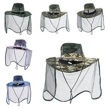 Â�ウトドアフィッシングキャップ蚊昆虫帽子防風日焼け釣り帽子通気性バグメッシュネットプロテクターキャンプ新